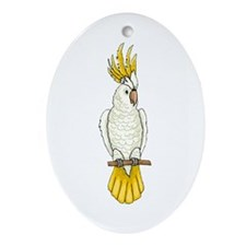 Sulfur-Crested Cockatoo Oval Ornament