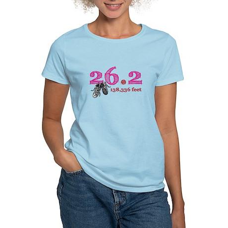 26.2   138,336 feet Women's Light T-Shirt