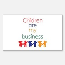 Children are my business Decal