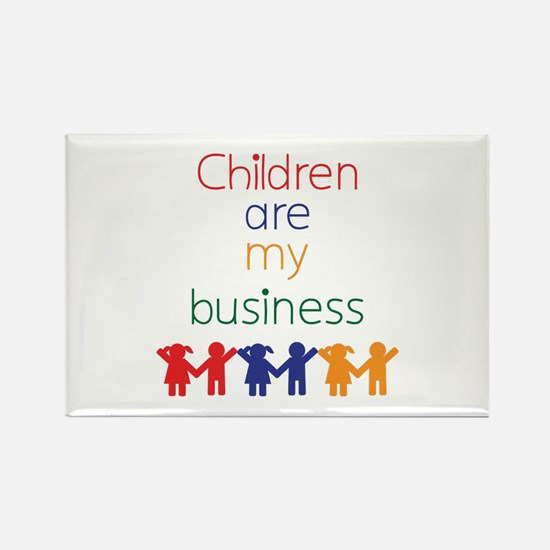 Children are my business Rectangle Magnet (100 pac