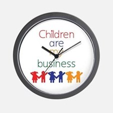 Children are my business Wall Clock