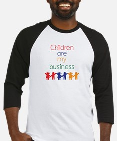 Children are my business Baseball Jersey