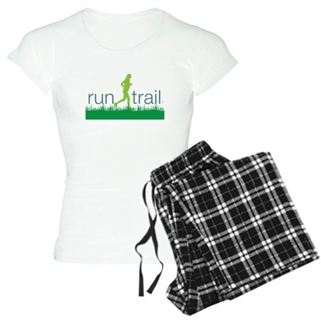 Run Trail Green Women's Light Pajamas