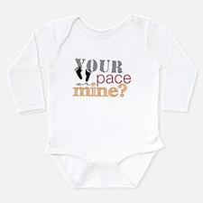 Running Buddy Orange Long Sleeve Infant Bodysuit