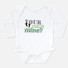 Running Buddy Lime Long Sleeve Infant Bodysuit