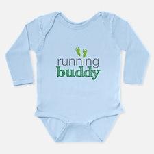 Running Buddy Green Long Sleeve Infant Bodysuit