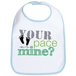 Your Pace or Mine Lime Bib