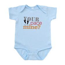 Your pace or mine Orange Infant Bodysuit