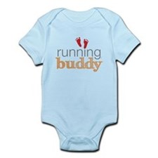 Running Buddy Orange Infant Bodysuit