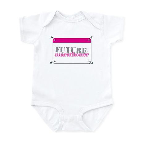 Future Marathoner Pink Infant Bodysuit