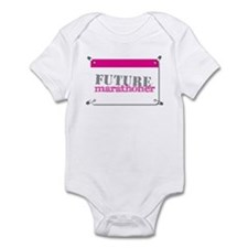 Future Marathoner Pink Infant Bodysuit