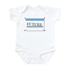 Future Marathoner Blue Infant Bodysuit