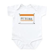 Future Marathoner Orange Infant Bodysuit