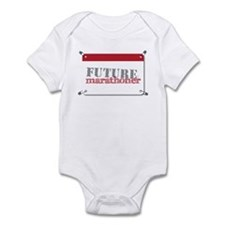 Future Marathoner Red Infant Bodysuit