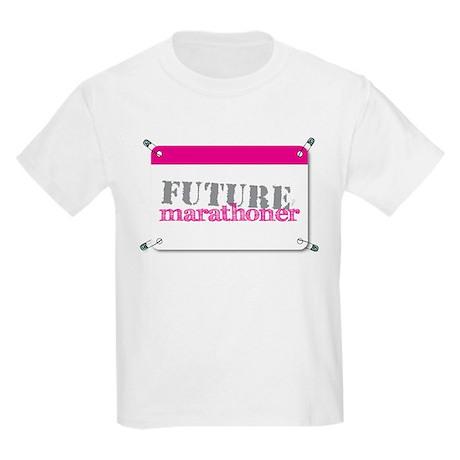 Future Marathoner Pink Kids Light T-Shirt