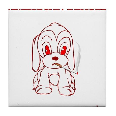 American Beagle Tile Coaster