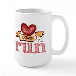 Love to Run Large Mug