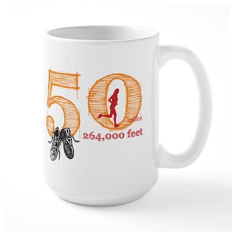 50 Mile Ladies Large Mug