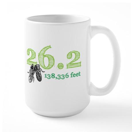 26.2 Mile Green Large Mug