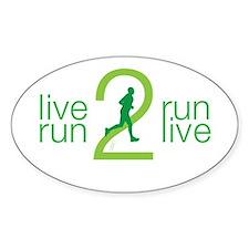 Live 2 Run Men's Decal