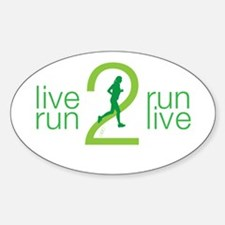 Live 2 Run Ladies Decal