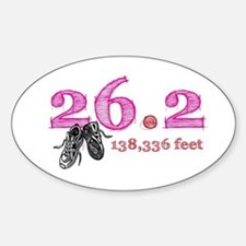 26.2 Mile Marathon Sticker (Oval)