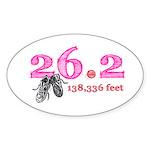 26.2 Mile Marathon Sticker (Oval)