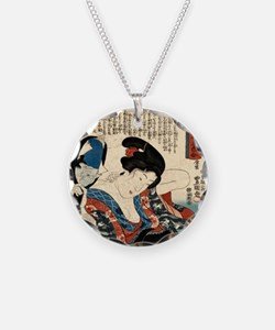 Woman Dressing Hair Necklace