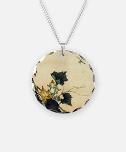 Dragonflies and Flowers Necklace