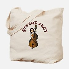 String Upright Double Bass Guitar Tote Bag