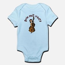 String Upright Double Bass Guitar Infant Bodysuit