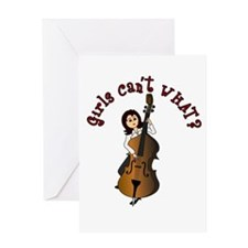 String Upright Double Bass Guitar Greeting Card