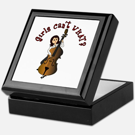 String Upright Double Bass Guitar Keepsake Box