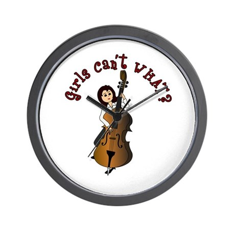 String Upright Double Bass Guitar Wall Clock