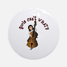 String Upright Double Bass Guitar Ornament (Round)