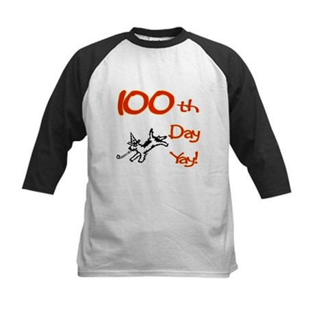 100th Day Yay! Kids Baseball Jersey