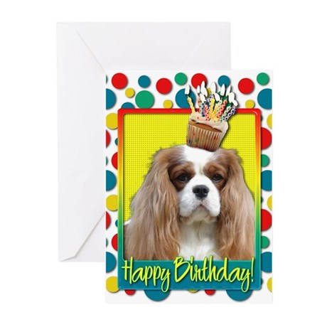 Birthday Cupcake - Cavalier Greeting Cards (Pk of
