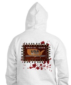 Funny Zombie hunting permit Hoodie