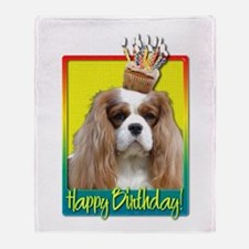 Birthday Cupcake - Cavalier Throw Blanket