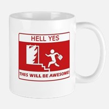 This Will Be Awesome Arson Mug