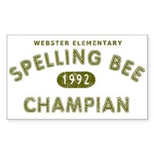 Spelling Bee Champian Decal