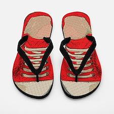 Red Sneakers Flip Flops