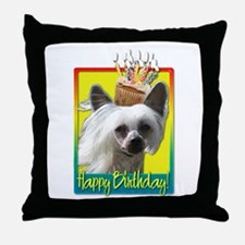 Birthday Cupcake - Crestie Throw Pillow