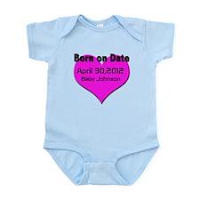 Born on Date Maturnity Infant Bodysuit