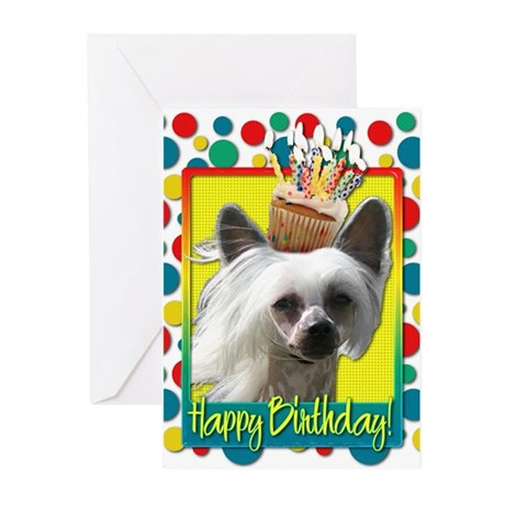 Birthday Cupcake - Crestie Greeting Cards (Pk of 2
