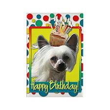 Birthday Cupcake - Crestie Rectangle Magnet (100 p