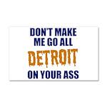 Detroit Baseball Car Magnet 20 x 12