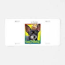 Birthday Cupcake - Chihuahua Aluminum License Plat