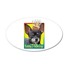 Birthday Cupcake - Chihuahua 22x14 Oval Wall Peel