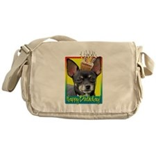 Birthday Cupcake - Chihuahua Messenger Bag